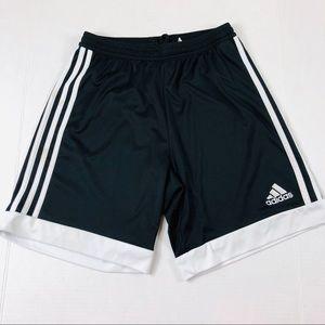 Adidas Black Three Stripe Shorts Size Small